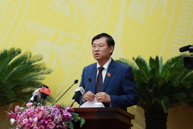 Chánh án Tòa án nhân dân TP Hà Nội Nguyễn Hữu Chính.