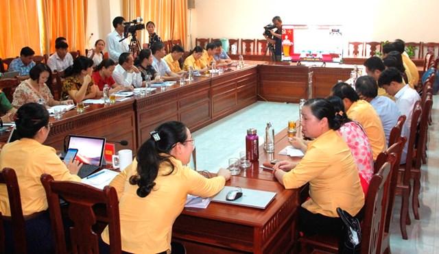 Điểm cầu Nghệ An tại Hội nghị trực tuyến Chủ tịch Ủy ban MTTQ các tỉnh, thành năm 2020.
