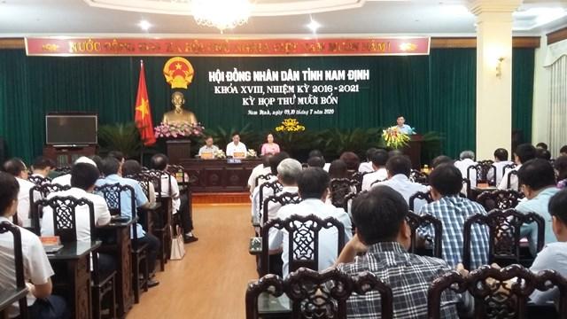 Chủ tịch UBND tỉnh Nam Định Phạm Đình Nghị giải trình tại kỳ họp thứ 14, HĐND tỉnh.