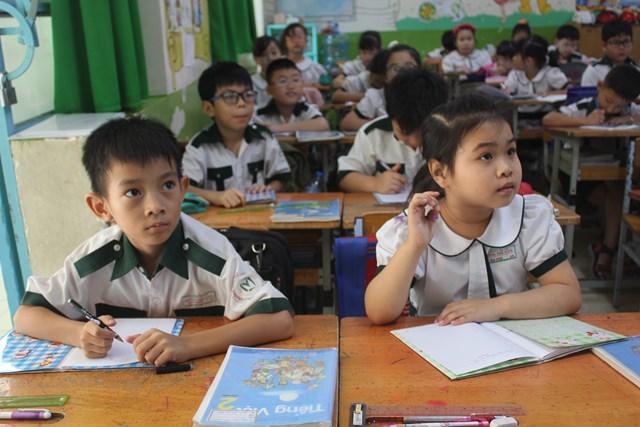Học sinh tiểu học tại TP HCM trong tiết học. Ảnh minh họa.