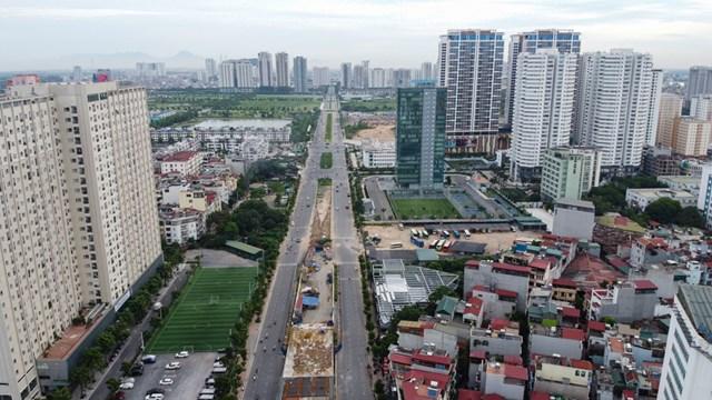 Cầu vượt Nguyễn Văn Huyên khi đi vào sử dụng sẽ làm giảm ách tắc giao thông.