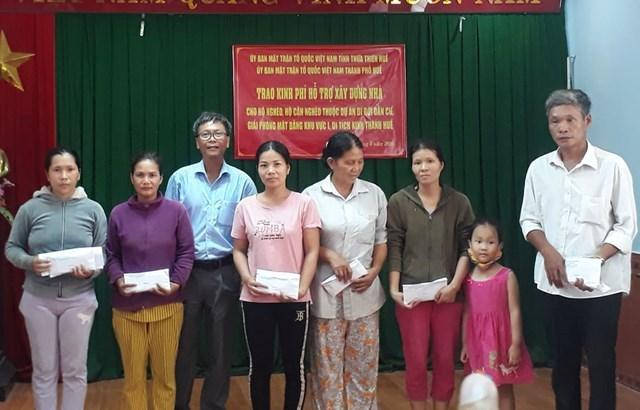 Hơn 2,3 tỷ đồng ủng hộ người nghèo thuộc dự án di dời dân cư, giải phóng mặt bằng khu vực I di tích Kinh thành Huế.