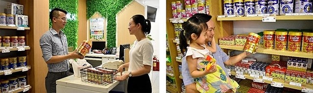 """Người tiêu dùng có thể mua sữa bột """"Dielac Grow Plus có Tổ Yến"""" tại các cửa hàng và trang thương mại điện tử Giấc mơ sữa Việt của Vinamilk."""