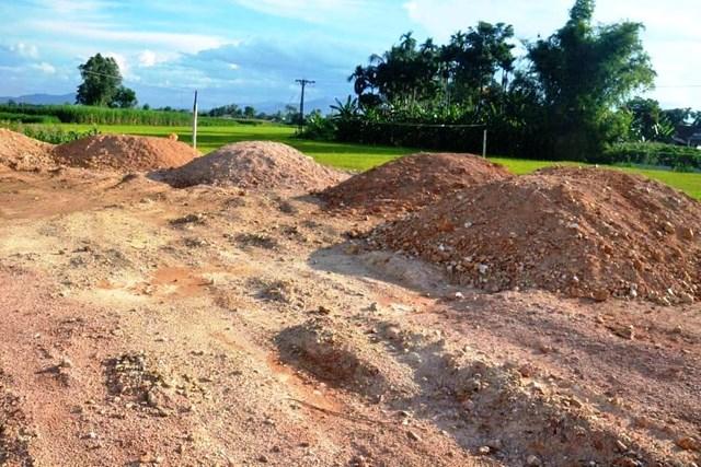 Một địa điểm chuyển đối mục đích sử dụng đất trái quy định tại xã Tịnh Hà.