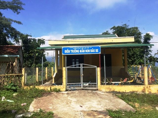 Một điểm trường ở Quảng Ngãi không sử dụng gây lãng phí.