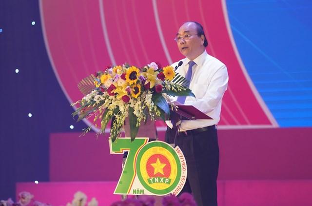 Thủ tướng Nguyễn Xuân Phúc phát biểu tại buổi lễ - Ảnh: VGP/Quang Hiếu.