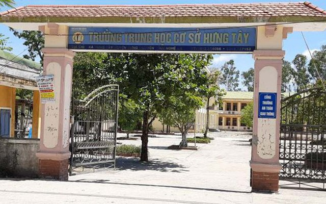 Trường THCS Hưng Tây, huyện Hưng Nguyên, Nghệ An.