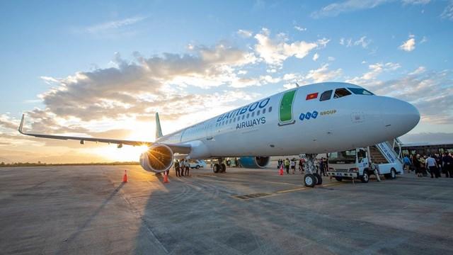 Bamboo Airways đang khai thác tích cực các chuyến bay đi/đến sân bay Cát Bi