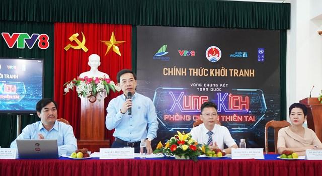 Ban tổ chức thông tin đến báo chí về cuộc thi. Ảnh Thanh Tùng.