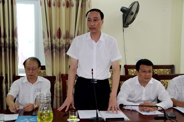 Phó Chủ tịch Phùng Khánh Tài phát biểu tại buổi làm việc.