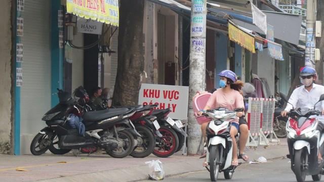 Khu vực bị cách ly ở quận Tân Phú.