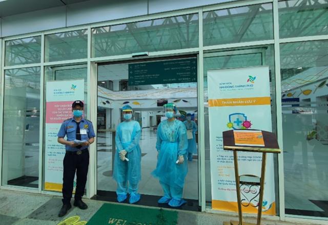 Công tác kiểm soát phòng chống dịch bệnh Covid-19 được tăng cường tại nhiều khu vực BV trên địa bàn TP HCM. (Ảnh: Sở Y tế TP HCM).