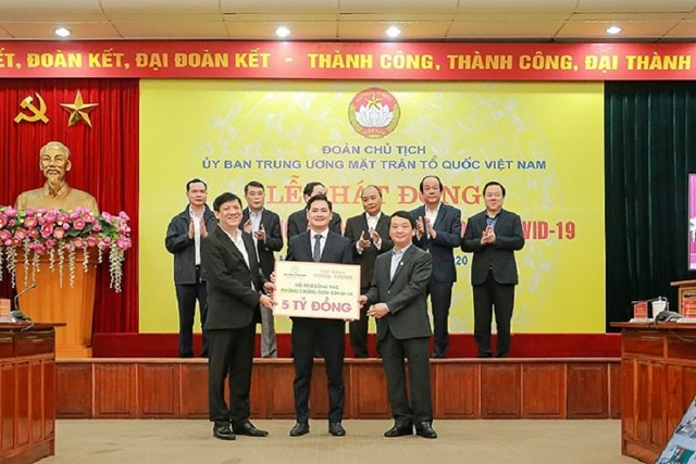 Tập đoàn Hưng Thịnh ủng hộ 5 tỷ đồng phòng chống dịch Covid -19 (trong đợt 1) thông qua UBTƯ MTTQ Việt Nam.