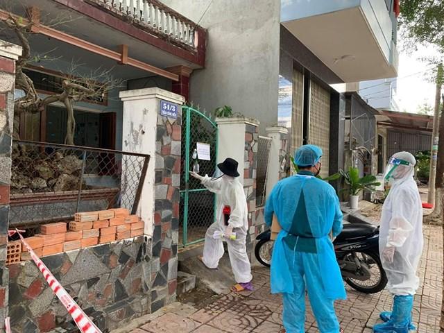 Một khu vực bị phong tỏa ở Quảng Ngãi.