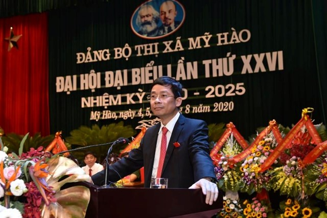 Ông Nguyễn Duy hưng, Phó Bí thư thường trực tỉnh ủy Hưng yên phát biểu.