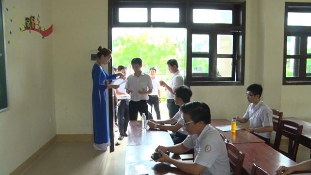 Các thí sinh dự thi tốt nghiệp THPT năm 2019 ở Quảng Nam.