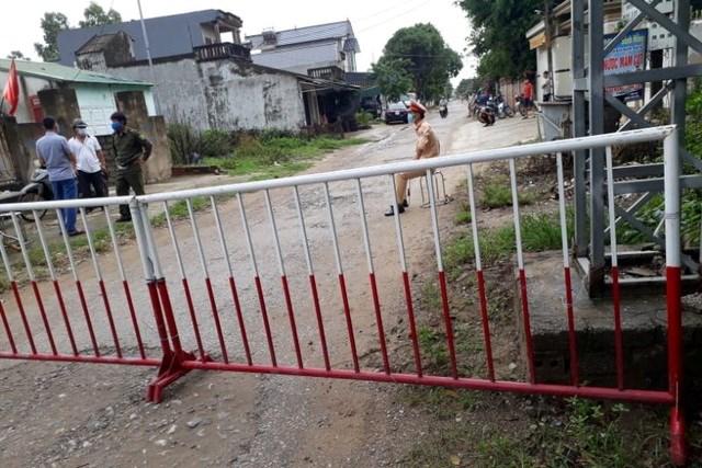 Khu phố Nam Bắc, phường Quảng Vinh đã được phong tỏa để phòng, chống dịch bệnh Covid-19. Ảnh: Dân trí.