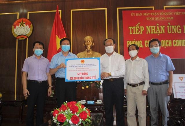 TP Hải Phòng ủng hộ tỉnh Quảng Nam 5 tỷ đồng phòng, chống dịch Covid-19.