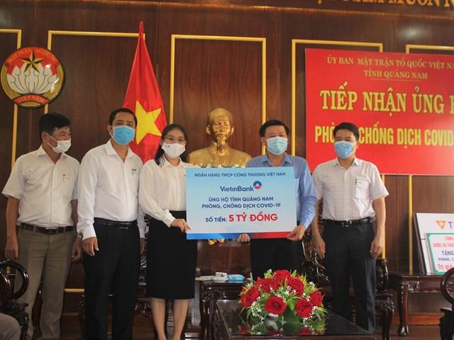 Quảng Nam tiếp nhận 5 tỷ đồng của Ngân hàng TMCP Công Thương Việt Nam.