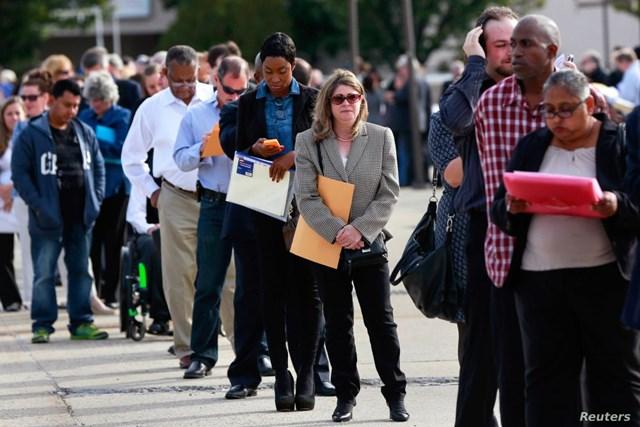 Số người thất nghiệp tại Mỹ vẫn không ngừng tăng.