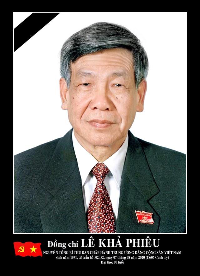 Nguyên Tổng Bí thư Ban Chấp hành Trung ương Đảng Cộng sản Việt Nam Lê Khả Phiêu.