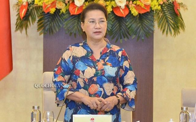 Chủ tịch Quốc hội Nguyễn Thị Kim Ngân. Ảnh: Quochoi.vn/VOV.