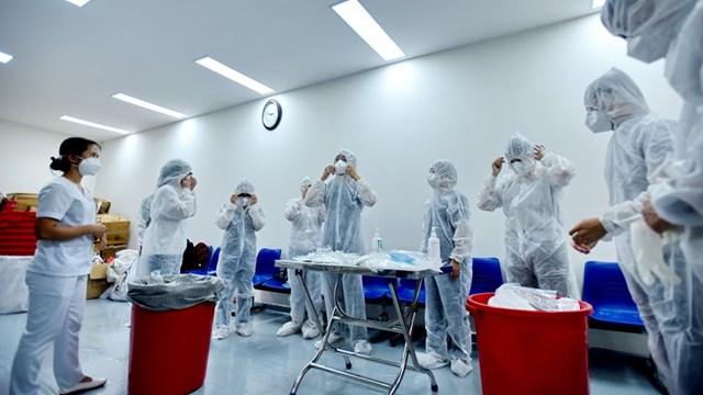 Bệnh viện dã chiến tại Đà Nẵng. Ảnh: Thanh Tùng.