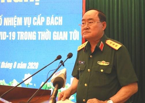 Thượng tướng Trần Đơn chủ trì hội nghị.