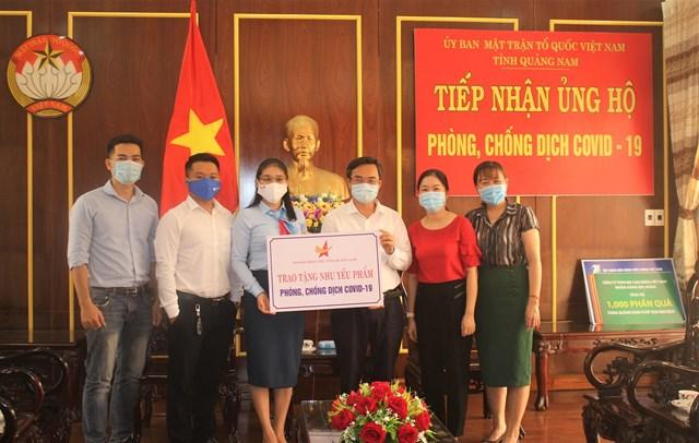 Mặt trận tỉnh Quảng Nam tiếp nhận nhu yếu phẩm phòng, chống dịch Covid-19.