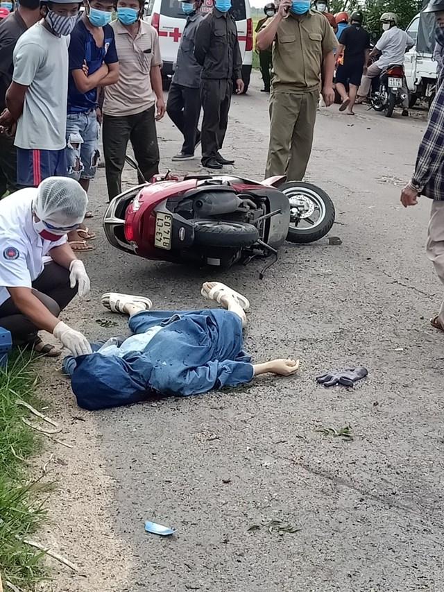 Hiện trường nơi xảy ra vụ nổ khiến một phụ nữ tử vong.
