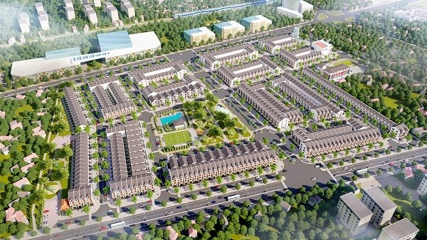 Mô hình Khu dân cư Cảng Phú Định, quận 8 quảng cáo trên mạng. Ảnh Internet.