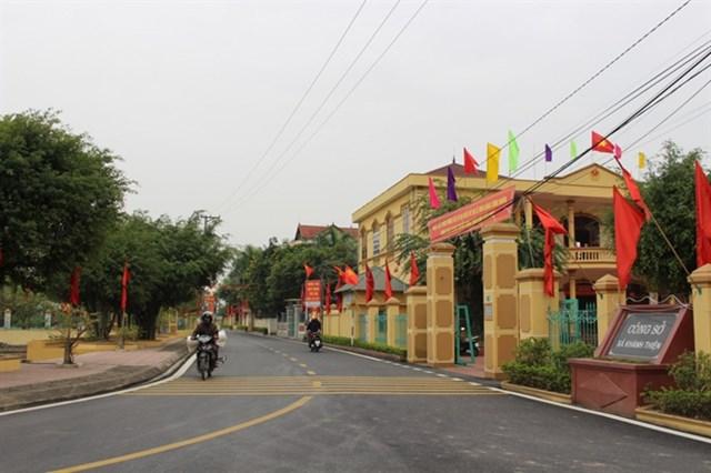Cơ sở hạ tầng xã Khánh Thiện ngày một khang trang.
