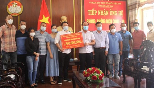 Mặt trận tỉnh Quảng Nam tiếp nhận 1,5 tỷ đồng ủng hộ phòng, chống dịch Covid-19.