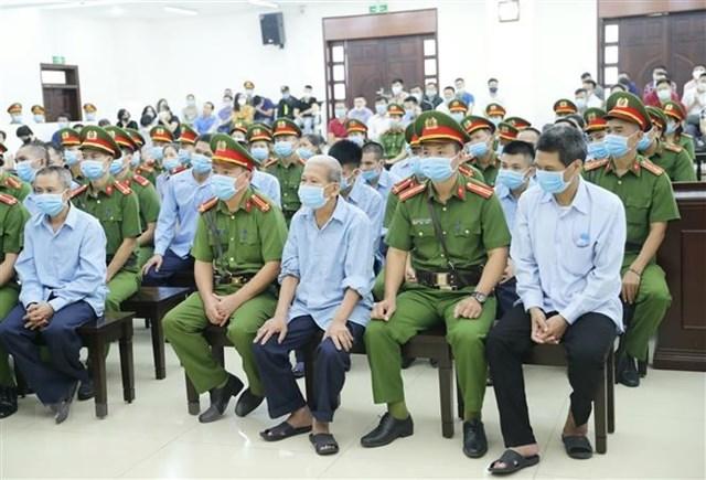 Trong phiên xét xử ngày 8/9, hầu hết các bị cáo đều thừa nhận hành vi phạm tội. Ảnh: TTXVN.