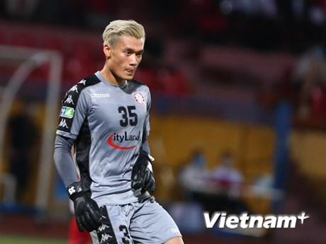 Bùi Tiến Dũng mắc lỗi trong bàn thua của TP HCM trước đội bóng cũ Hà Nội FC. (Ảnh: Hiển Nguyễn/Vietnam+).