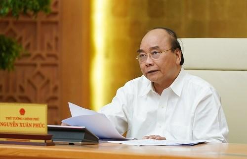 Thủ tướng Nguyễn Xuân Phúc phát biểu kết luận cuộc họp. Ảnh: VGP/Quang Hiếu.