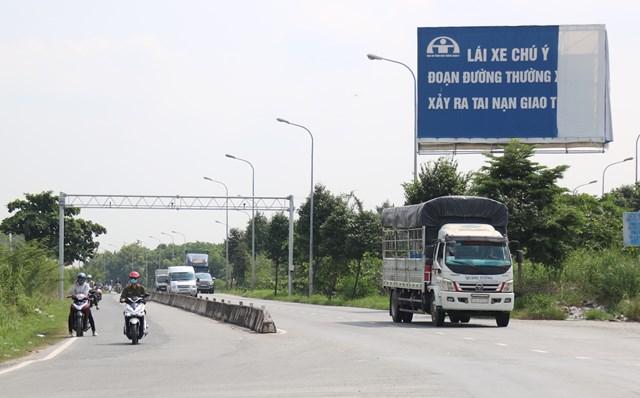 Đường dẫn dự án BT Phú Mỹ.Ảnh Sơn Bình.