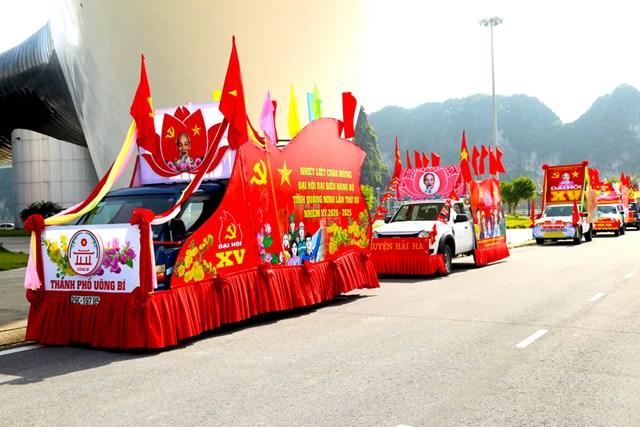 Hội thi xe tuyên truyền cổ động chào mừng Đại hội Đại biểu Đảng Bộ tỉnh Quảng Ninh.