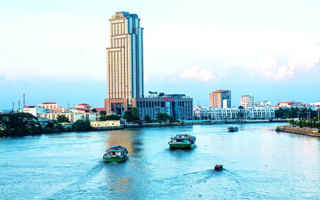 Đô thị TP Cần Thơ ngày càng phát triển văn minh, hiện đại.