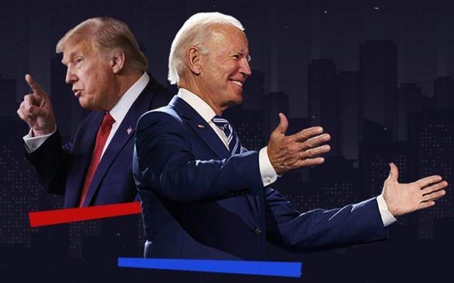 Tổng thống Mỹ Donald Trump vàông Joe Biden.