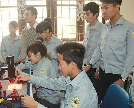 Nhiều học sinh đã lựa chọn học nghề.