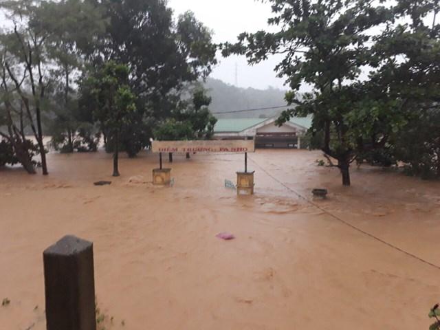 Điểm trường Pa Nho (huyện miền núi Hướng Hóa, tỉnh Quảng Trị) chìm trong nước.