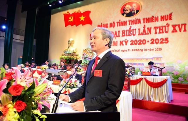 Ông Lê Trường Lưu phát biểu tại Đại hội.