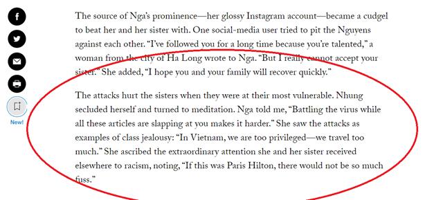 Cộng đồng mạng phẫn nộ với phát ngôn của chị em BN17 trên báo Mỹ - Ảnh 1