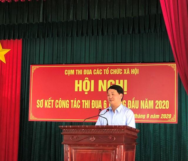 Phó Chủ tịch - Tổng Thư ký Hầu A Lềnh phát biểu tại hội nghị.